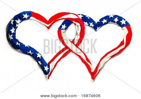 American hearts on white background. Great for Independence Day brochures and advertising.