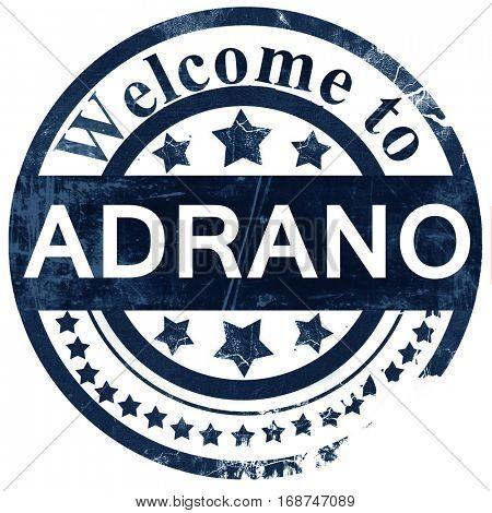 Adrano stamp on white background