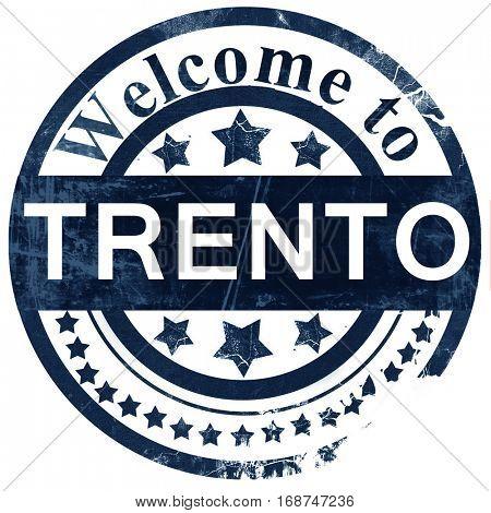 Trento stamp on white background