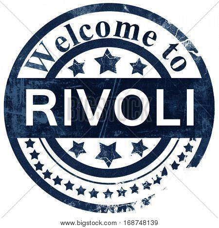 Rivoli stamp on white background