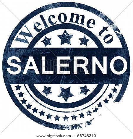 Salerno stamp on white background