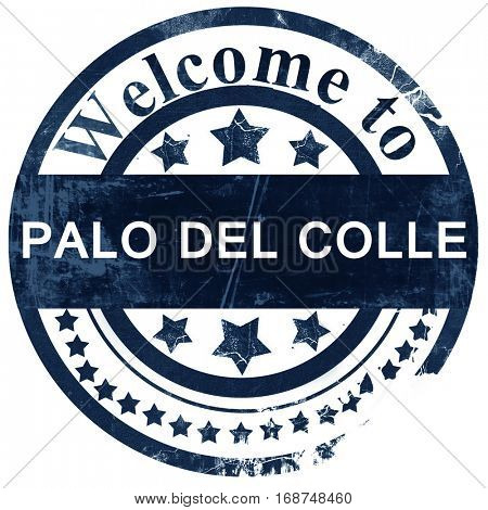 Palo del colle stamp on white background