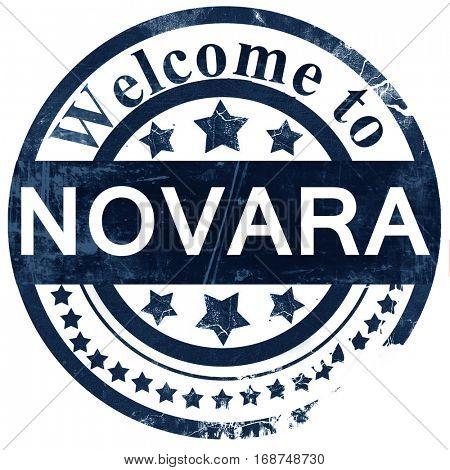 Novara stamp on white background