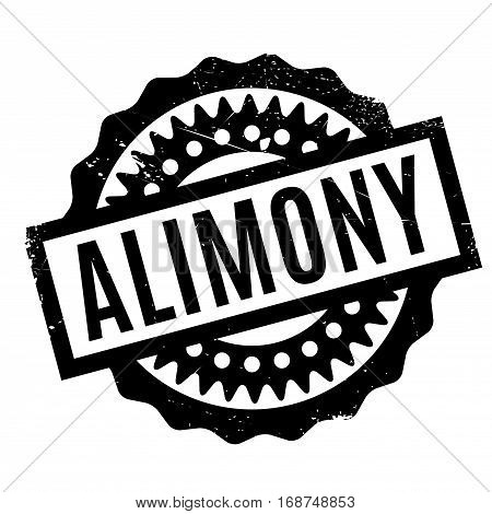 Alimony rubber stamp. Grunge design with dust scratches. Effects can be easily removed for a clean, crisp look. Color is easily changed.