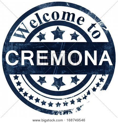 Cremona stamp on white background