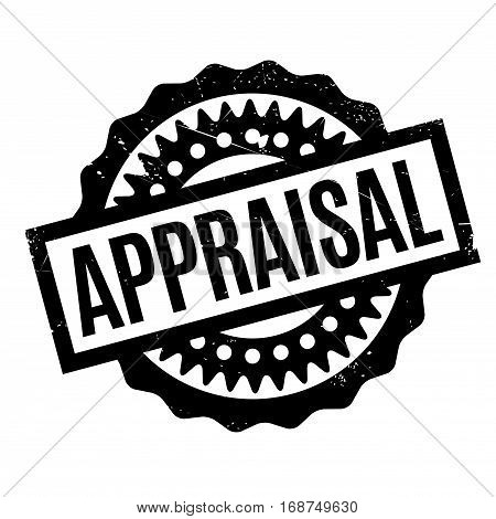 Appraisal rubber stamp. Grunge design with dust scratches. Effects can be easily removed for a clean, crisp look. Color is easily changed.