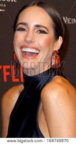 Louise Roe arrives at the Weinstein Company and Netflix 2017 Golden Globes After Party on Sunday, January 8, 2017 at the Beverly Hilton Hotel in Beverly Hills, CA.