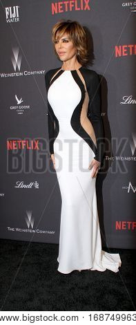 Lisa Rinna arrives at the Weinstein Company and Netflix 2017 Golden Globes After Party on Sunday, January 8, 2017 at the Beverly Hilton Hotel in Beverly Hills, CA.