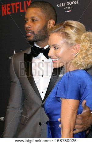Kerry Rhodes and Nicky Whelan arrive at the Weinstein Company and Netflix 2017 Golden Globes After Party on Sunday, January 8, 2017 at the Beverly Hilton Hotel in Beverly Hills, CA.