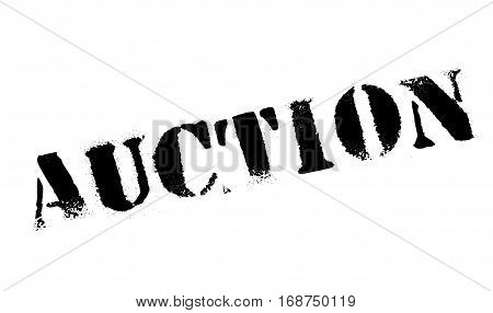Auction rubber stamp. Grunge design with dust scratches. Effects can be easily removed for a clean, crisp look. Color is easily changed.