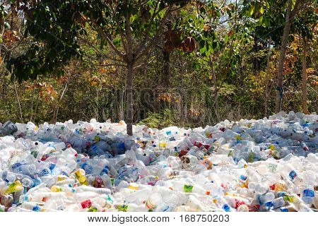 Plastic Bottles In The Nature