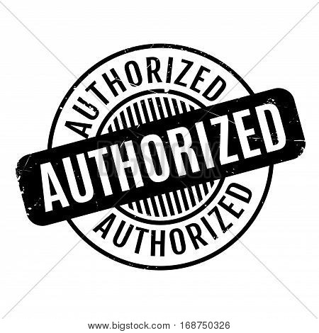 Authorized rubber stamp. Grunge design with dust scratches. Effects can be easily removed for a clean, crisp look. Color is easily changed.