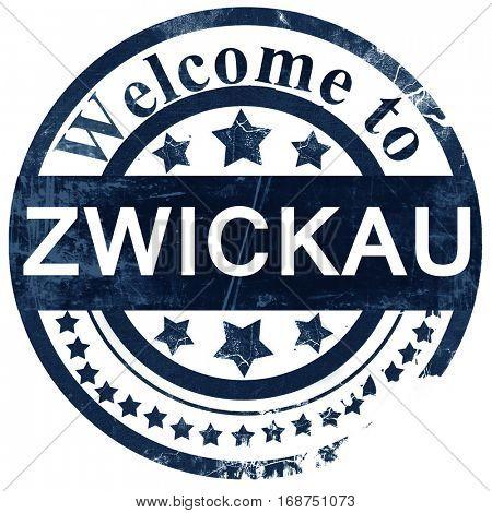 Zwickau stamp on white background