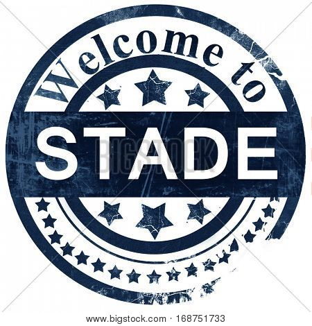 Stade stamp on white background