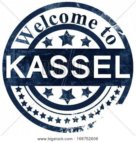 Kassel stamp on white background