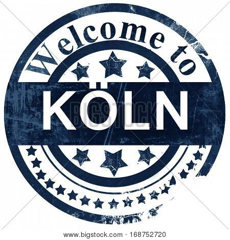 Koln stamp on white background