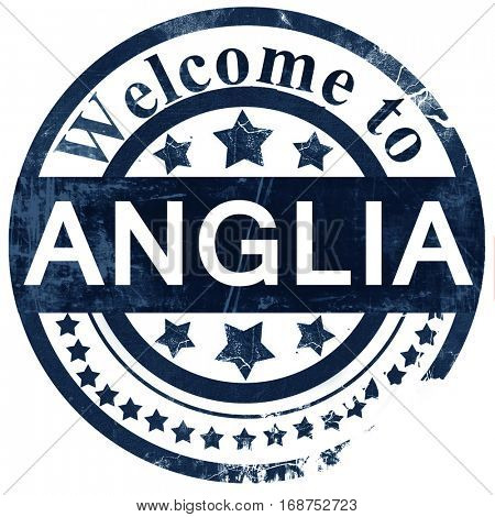 Anglia stamp on white background