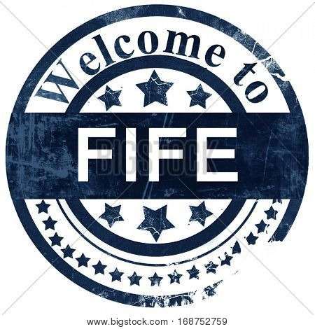 Fife stamp on white background