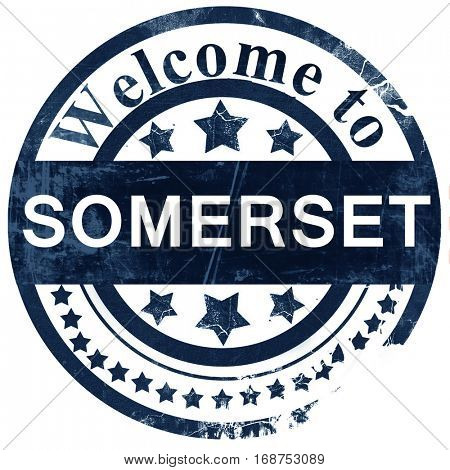 Somerset stamp on white background