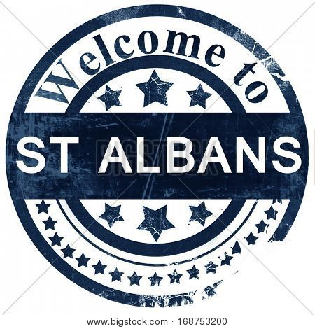 St albans stamp on white background