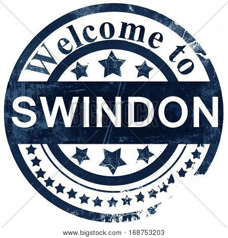 Swindon stamp on white background