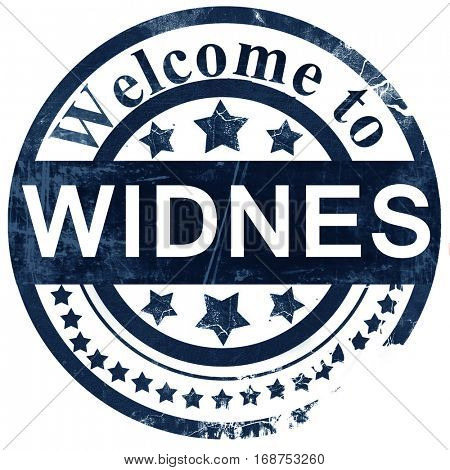 Widnes stamp on white background
