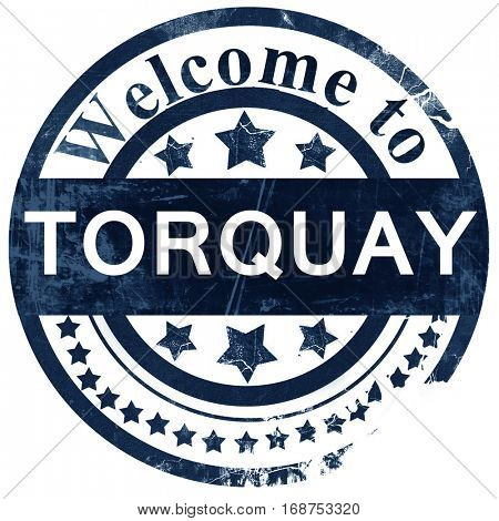Torquay stamp on white background