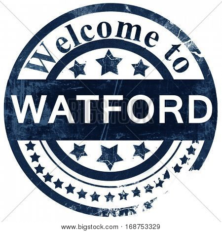 Watford stamp on white background