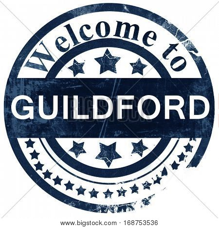 Guildford stamp on white background