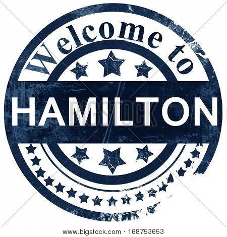 Hamilton stamp on white background