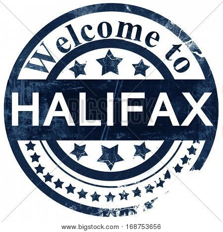 Halifax stamp on white background
