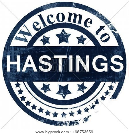 Hastings stamp on white background