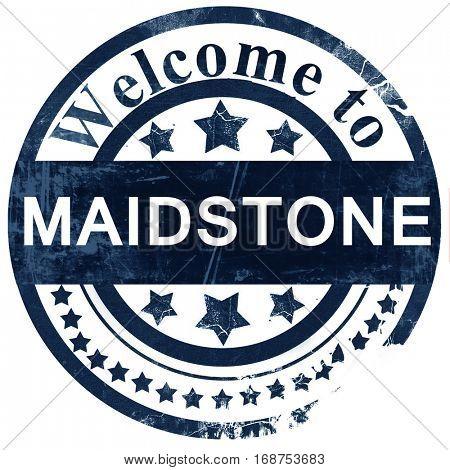 Maidstone stamp on white background