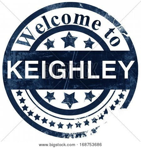 Keighley stamp on white background