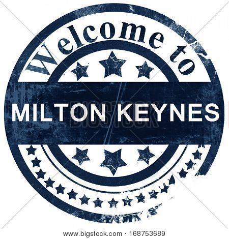 Milton Keynes stamp on white background