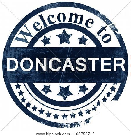 Doncaster stamp on white background
