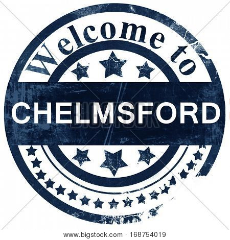 Chelmsford stamp on white background