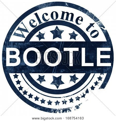 Bootle stamp on white background