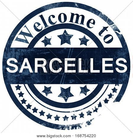 sarcelles stamp on white background