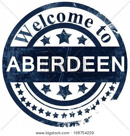 Aberdeen stamp on white background
