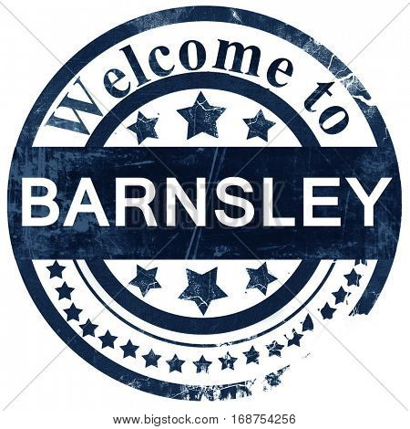 Barnsley stamp on white background