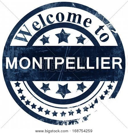 montpellier stamp on white background