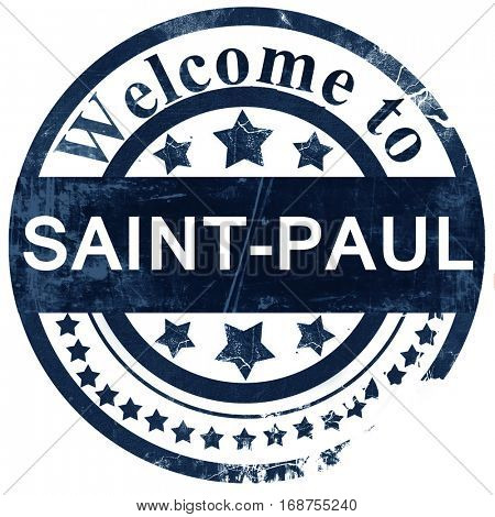 saint-paul stamp on white background