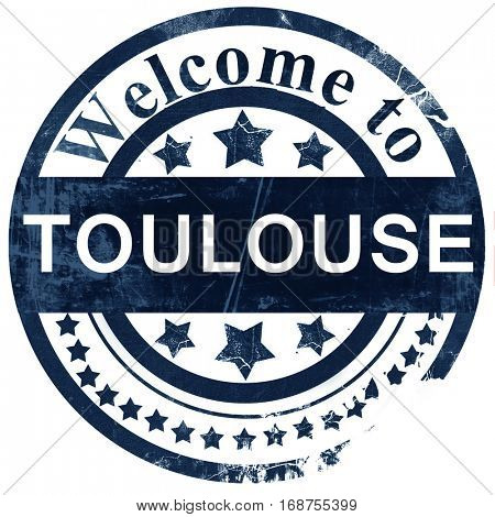 toulouse stamp on white background