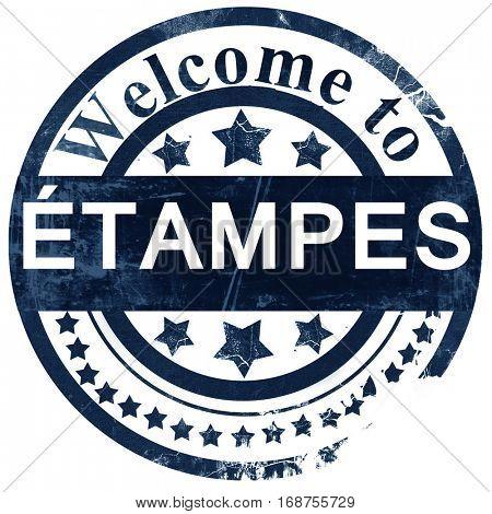 etampes stamp on white background
