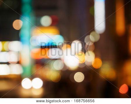 Blurry Of The Traffic Lights Street View, Bokeh  Night Life  .