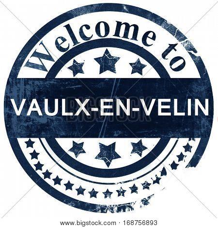 vaulx-en-velin stamp on white background