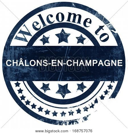 chalons-en-champagne stamp on white background
