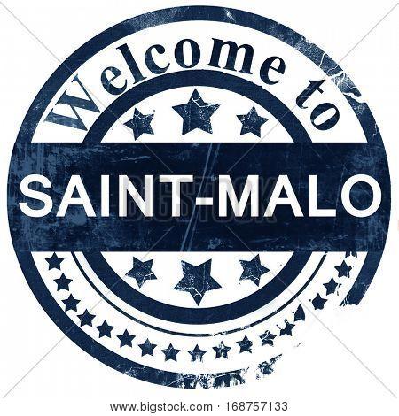 saint-malo stamp on white background