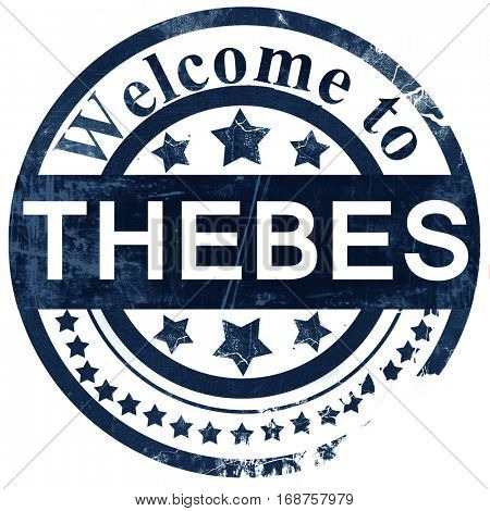 thebes stamp on white background
